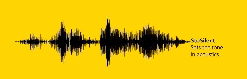 Συστήματα ηχοαπορρόφησης – Ακουστική StoSilent