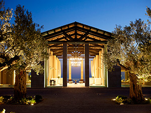 Costa Navarino Romanos Entrance