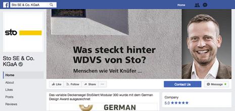 Νέα σελίδα της Sto στο Facebook